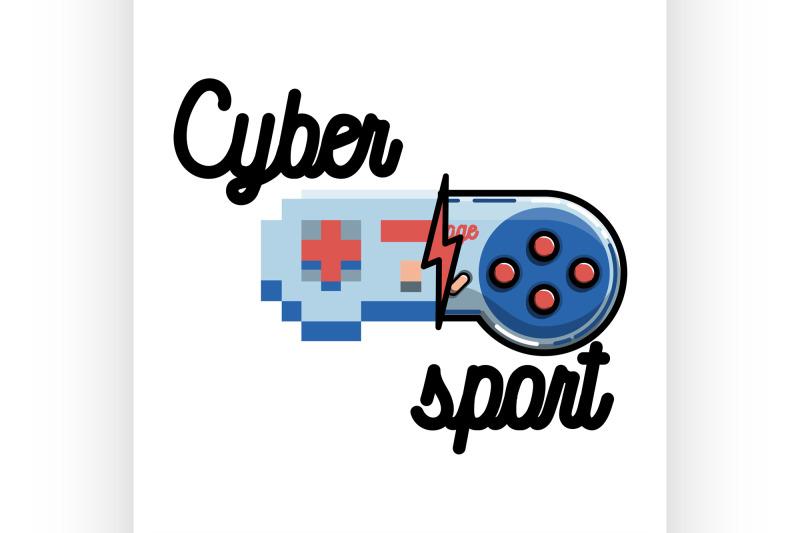 color-vintage-cyber-sport-banner