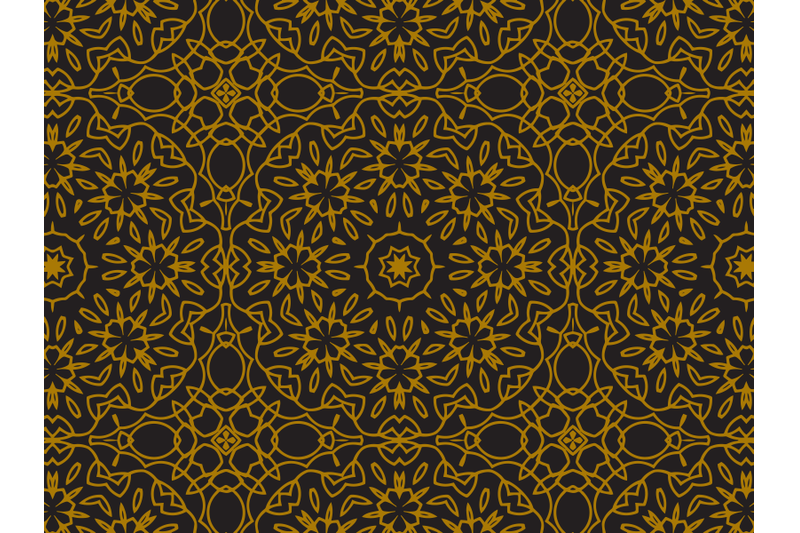 pattern-gold-ornament-flower-arrangement