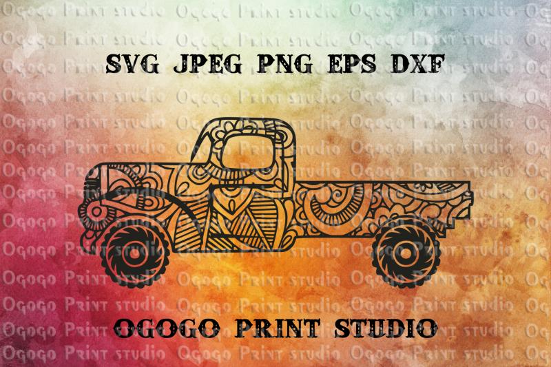 truck-svg-zentangle-svg-car-svg-mandala-svg-cricut-file