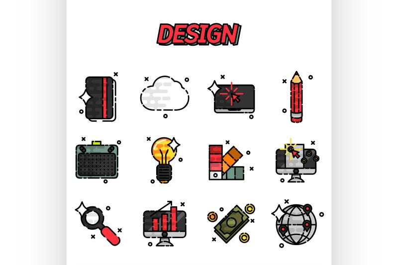design-flat-icons-set