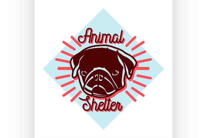 color-vintage-animal-shelter-emblem
