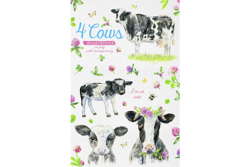 cute-cows-and-meadow-flowers-dairy-collection