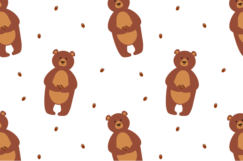 bears-in-the-forest-vector-illustration
