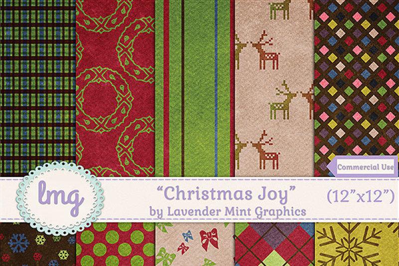 christmas-joy-digital-textured-papers