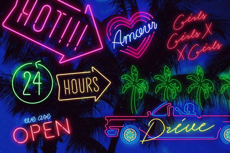the-neon-font-collection-script-and-sans-serif