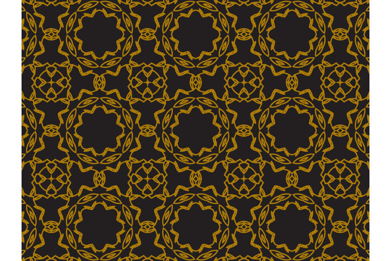 pattern-gold-motive-ciecle-and-curved