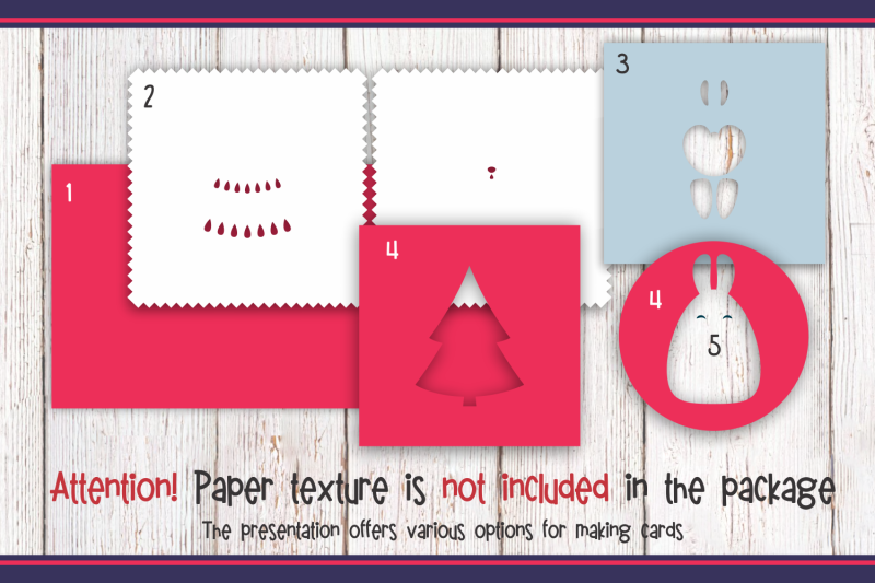 3d-layered-christmas-card-with-bunny