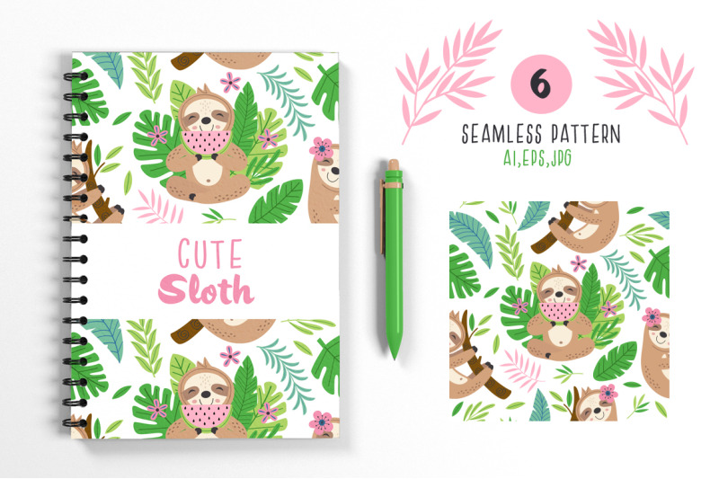 cute-sloth-collection