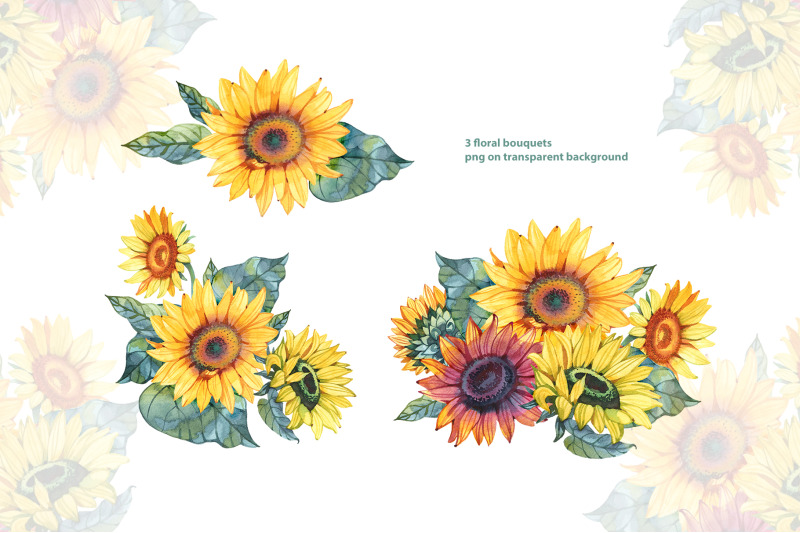 watercolor-sunflowers