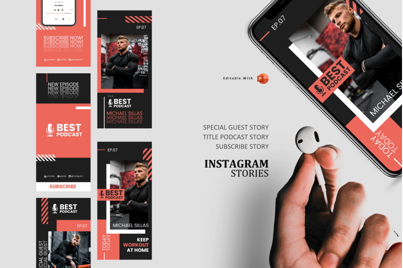 podcast-instagram-stories-and-post-template-gym-motivationer-podcast