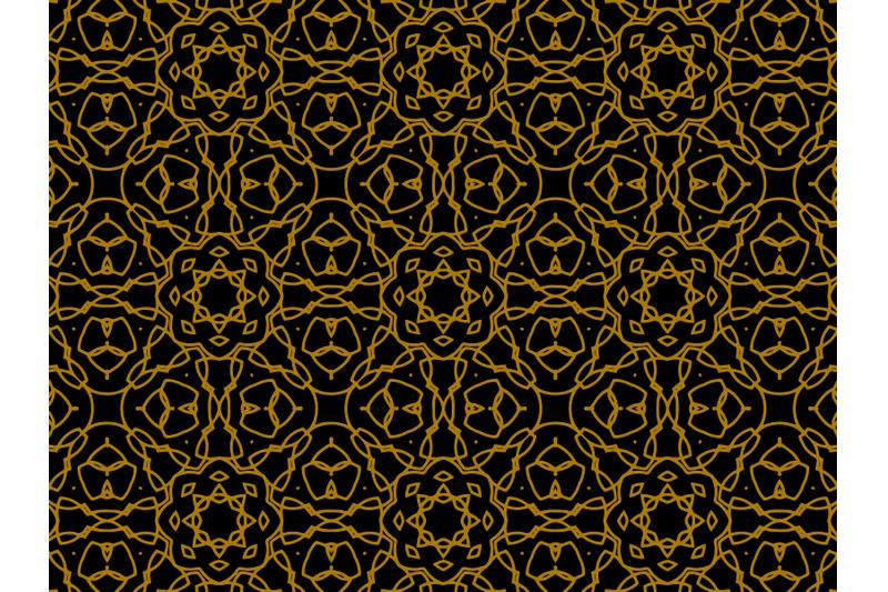 pattern-gold-ornament-star