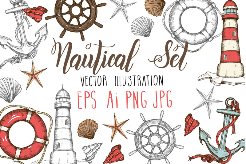 vector-nautical-set
