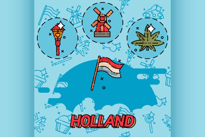 holland-flat-concept-icons