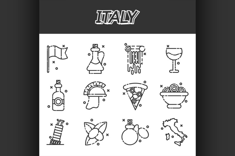 italy-icons-set