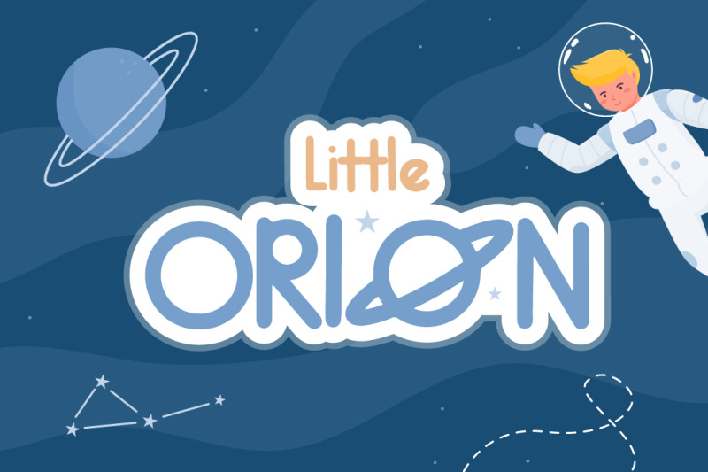little-orion-font-with-illustration