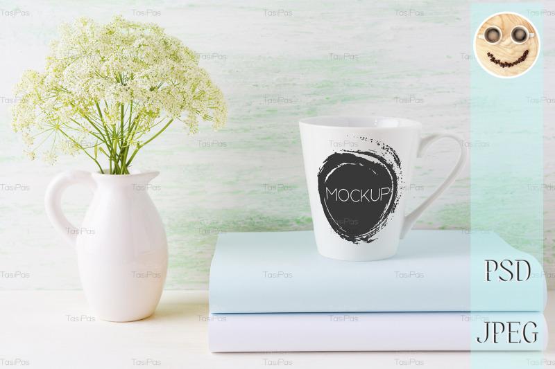 coffee-mug-mockup-light-green-latte-shape