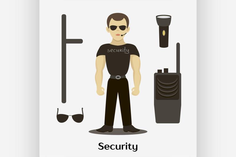 security-man-standing