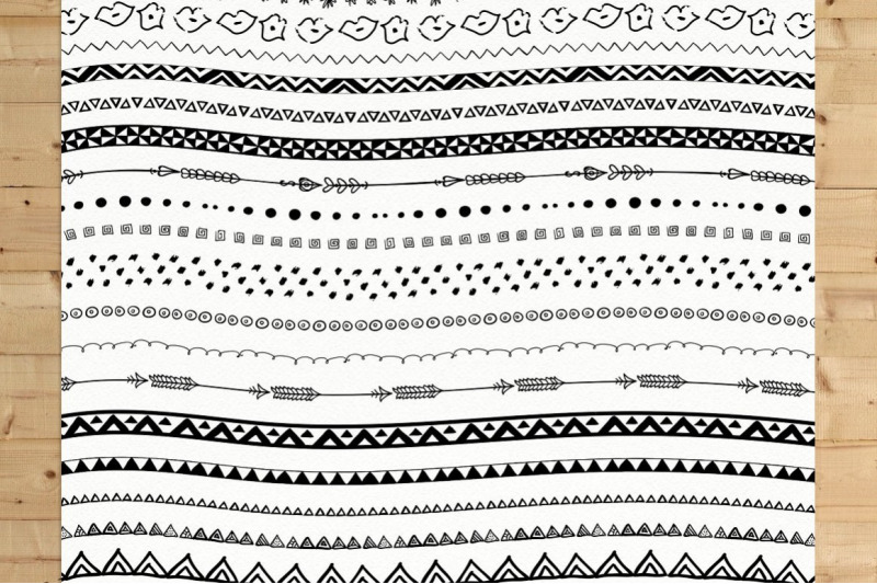 110-hand-drawn-inky-pattern-brushes-9-graphic-styles-text-effecs