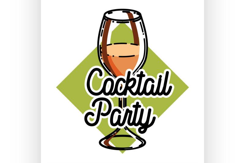 color-vintage-coctail-party-emblem