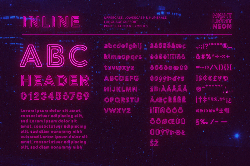 inline-neon-font-and-graphic-presets