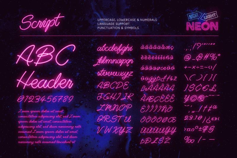 neon-script-fonts