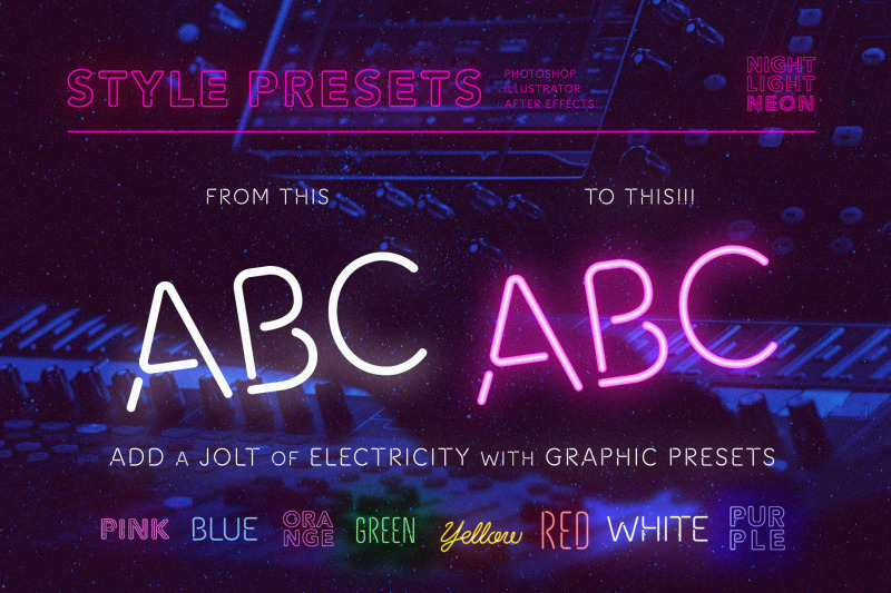 square-neon-font-and-graphic-presets