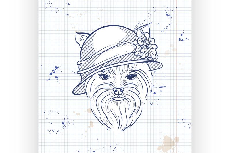 vector-color-sketch-of-elegant-dog