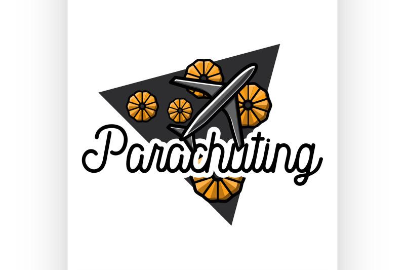 color-vintage-parachuting-emblem
