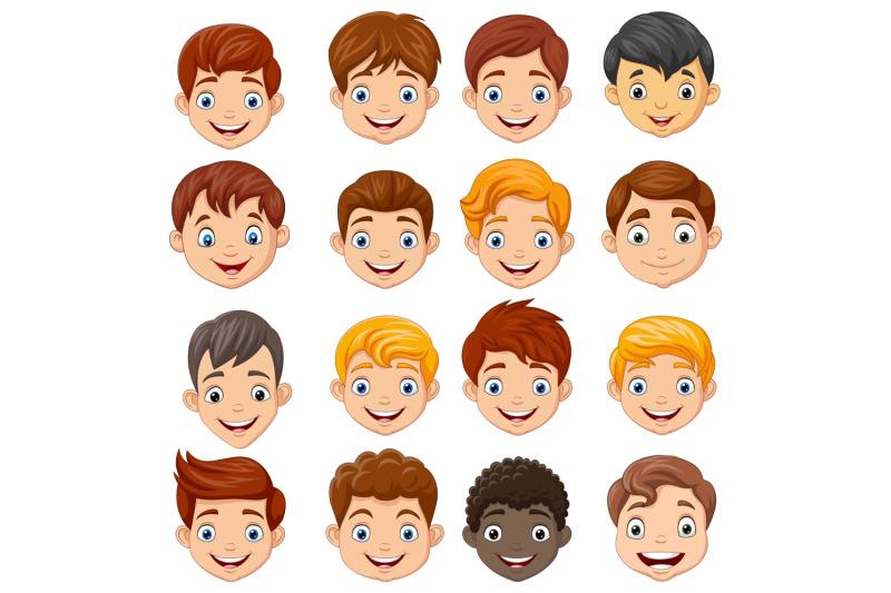 children-head-clipart-set-graphic
