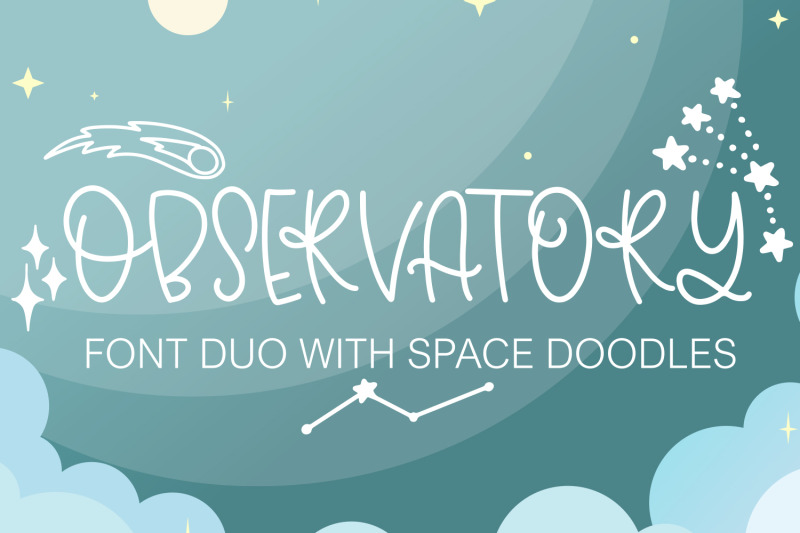 observatory-font-duo-with-space-inspired-doodles