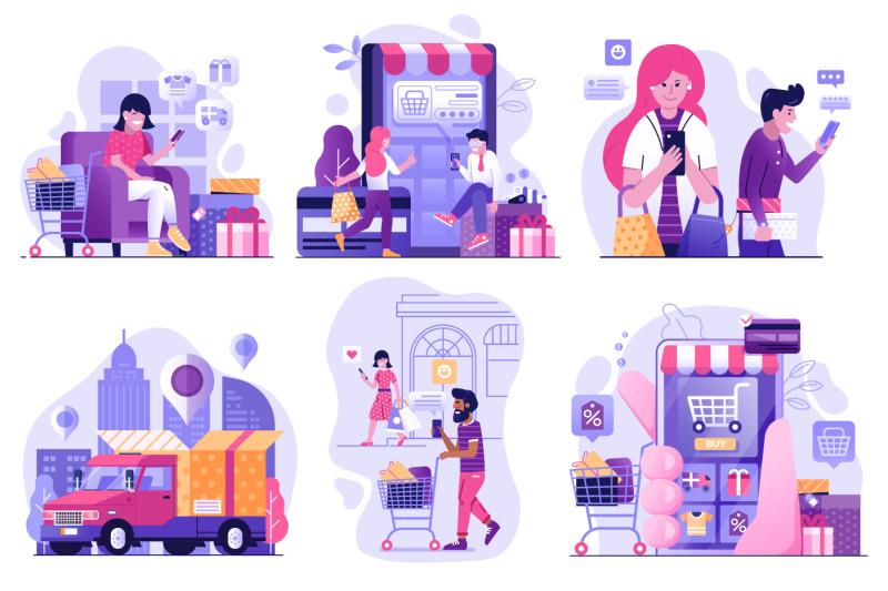 online-shopping-web-illustrations
