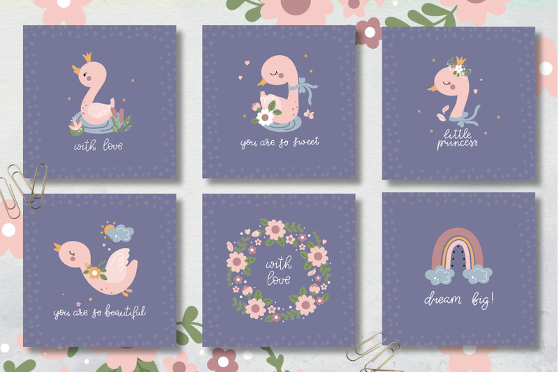 baby-swan-clipart-patterns