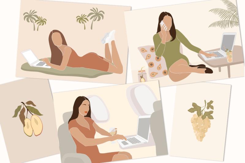 digital-nomad-girls-illustration-set