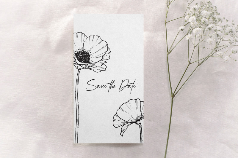 poppy-flowers-and-leaves-svg-png-hand-drawn-doodle-flowers