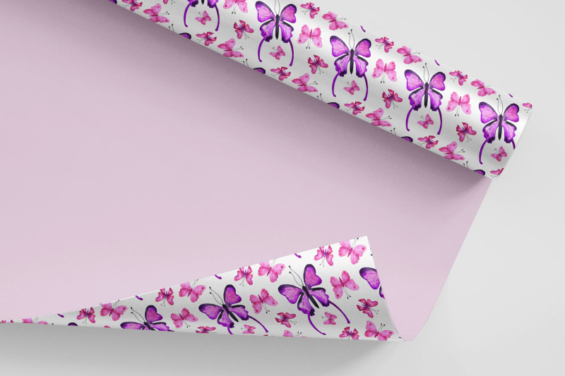 pink-and-purple-butterflies-patterns