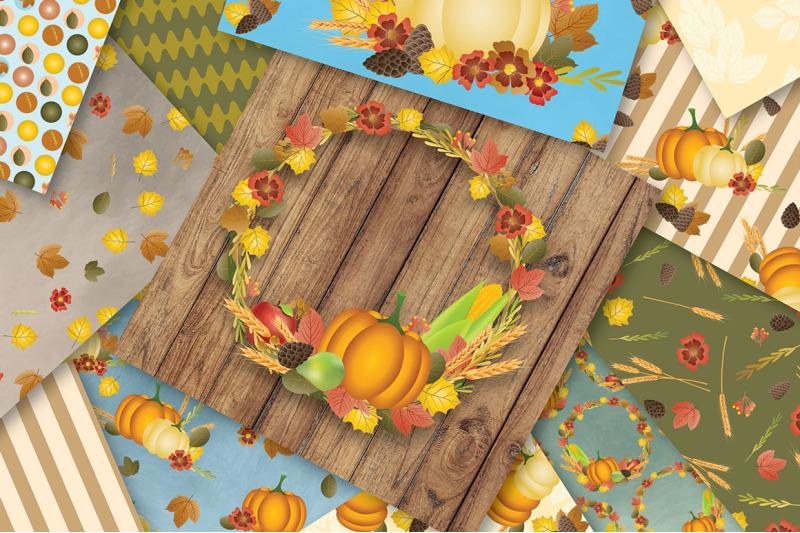 fall-digital-papers-autumn-digital-papers-pumpkins-fall-wreaths-sc