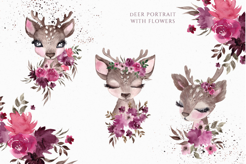 little-forest-dream-cute-watercolor-collection