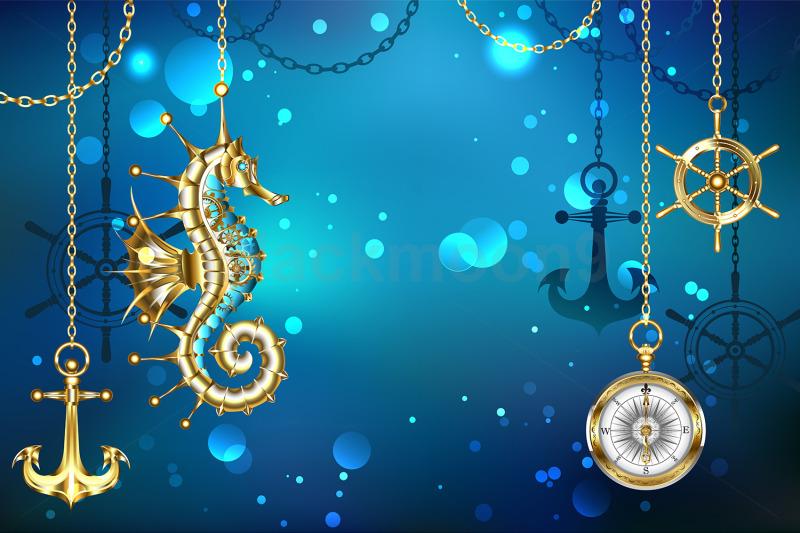 submerged-mechanical-seahorse
