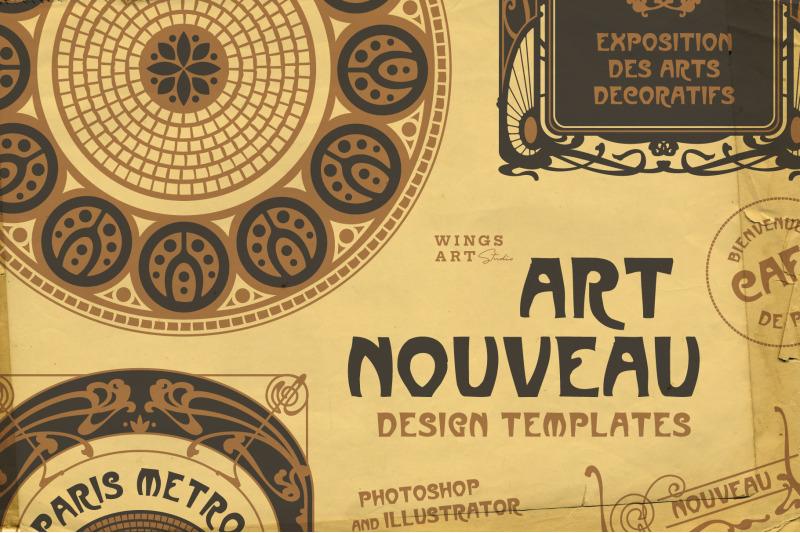 vintage-art-nouveau-style-design-templates