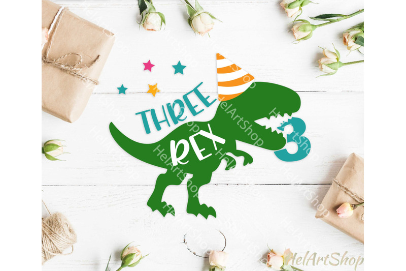 three-rex-svg-dinosaur-birthday-svg-3rd-birthday-svg