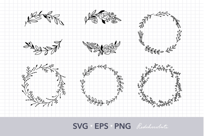 floral-wreath-svg-clipart-set-hand-drawn-wreath-clipart-collection