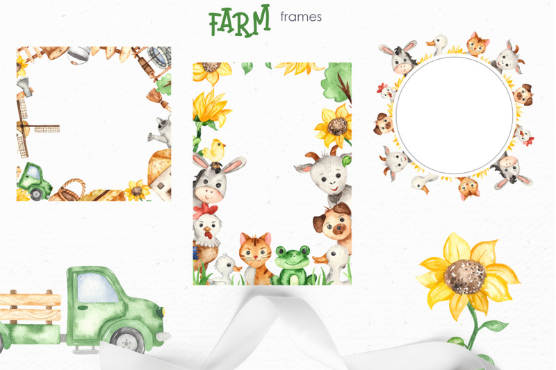 farm-watercolor-clipart-cards-frames-seamless-patterns