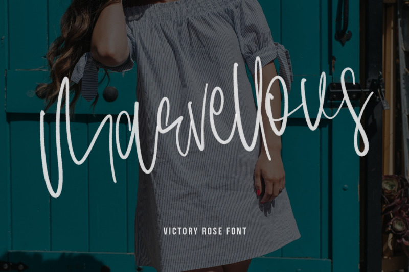 victory-rose-svg-brush-font