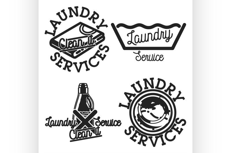 color-vintage-laundry-services-emblems