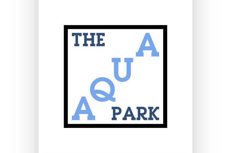 color-vintage-aquapark-emblem