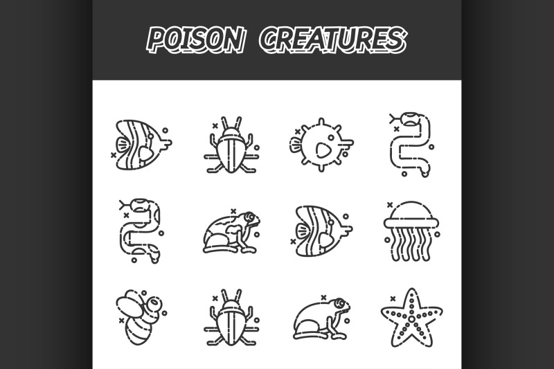 poisonous-creatures-cartoon-concept-icons