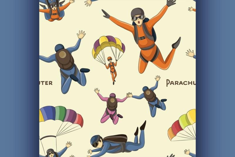 vector-set-of-parachuter-pattern
