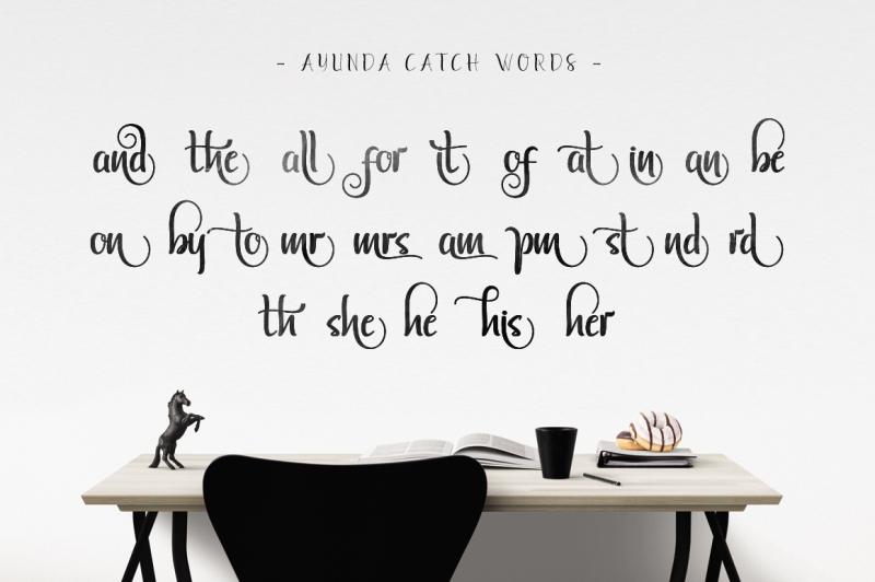 ayunda-typeface