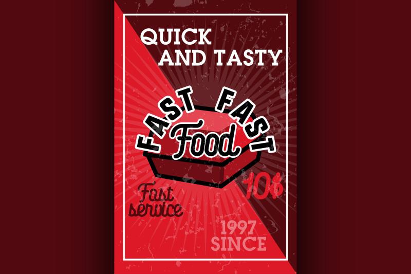 color-vintage-fast-food-banner