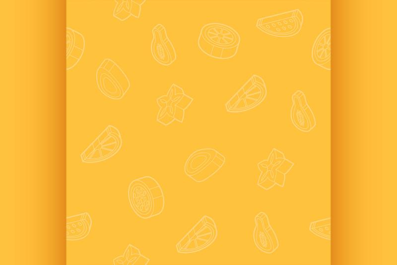 fruit-outline-isometric-pattern